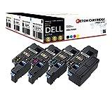4 Original Reton Toner |30% höhere Druckleistung |ALS Ersatz für Dell E525w - 593-BBLN 593-BBLL 593-BBLZ 593-BBLV Kapazität: Schwarz 2600 Seiten - Farben 1820 Seiten