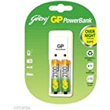 Godrej GP PowerBank Battery Cell Charger With 2x2100 MAh Batteries Sealed Pack