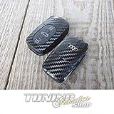 Schlüssel Carbon Design Dekor Folie Aufkleber Sticker in WEISS 3-Tasten