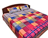 jazz mulicolor good quality pure cotton printed double bed sheet with 2 pillow covers(38) best price on Amazon @ Rs. 650