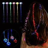 Gaddrt LED Perücken Glühende Taschenlampe Haar Braid Clip Haarnadel Weihnachten Geburtstag Spielzeug 35cm