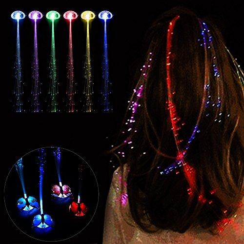 SkryoLED Perücken Glühende Taschenlampe Haar Braid Clip Haarnadel Weihnachten Geburtstag Spielzeug -