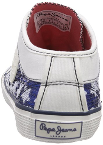 Pepe Jeans London INDUSTRY STARS Mädchen Sneakers Weiß (803OFF WHITE)