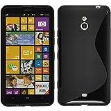 PhoneNatic Custodia per Nokia Lumia 1320 Cover nero S-Style Nokia Lumia 1320 in silicone + pellicola protettiva