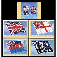 Bandiere e Ensigns Phq card No. PSM 07set completo di menta