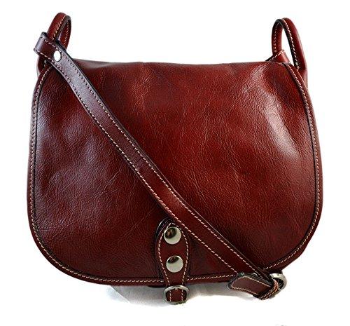 Ladies handbag leather bag clutch hobo bag shoulder bag crossbody bag made in Italy real leather red