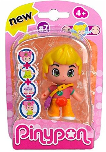 Pinypon - Muñeca, Figuras Serie 7, niña Pelo Rubio (Famosa 700013362)
