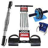 Zhiniu Indoor Sportartikel, Fitnessgeräte Arm Bar Multifunktions Puller Bauchmuskel Rad Anzug Haushalts Arm Krafttraining (Farbe : C, größe : 40KG)