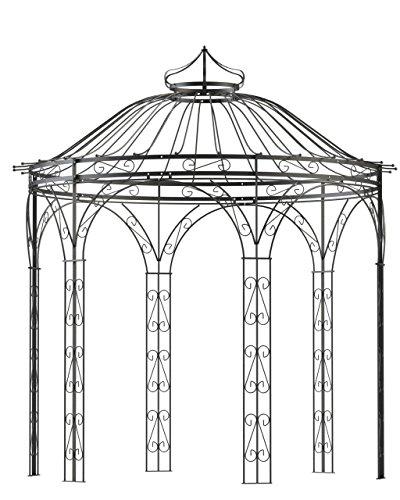 Pavillon, Gartenpavillon, Pavillon Metall, Gartenlaube, Eisenpavillon Amalia Ø 250 cm (Verzinkt)