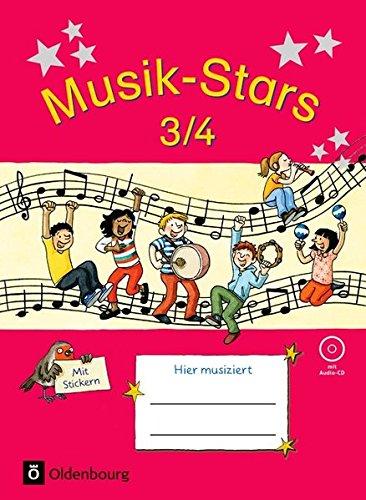 Musik-Stars - Grundwissen: 3./4. Schuljahr - Übungsheft mit Lösungen und Audio-CD