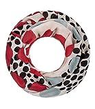 Majea super weicher Damen Loop Schal viele Farben Muster Schlauchschal Halstuch in aktuellen Trendfarben (grau 25)