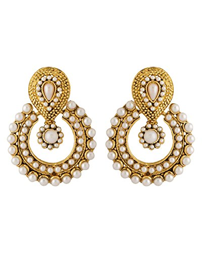 NIA Akshaya Tritiya Special Pearl Studded Traditional Dangler Earrings For Women