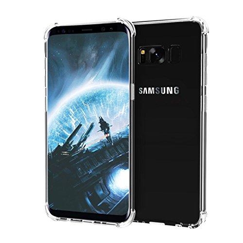 Hülle für Samsung Galaxy S8 Plus, Soft Flexibel Silikon Case Cover, Anti-Kratzer Handyhülle Abdeckung, Schallloch Technologie Handyhülle Schutz vor Schmutz, Schutzhülle für Samsung Galaxy S8 PLUS (Transparent)
