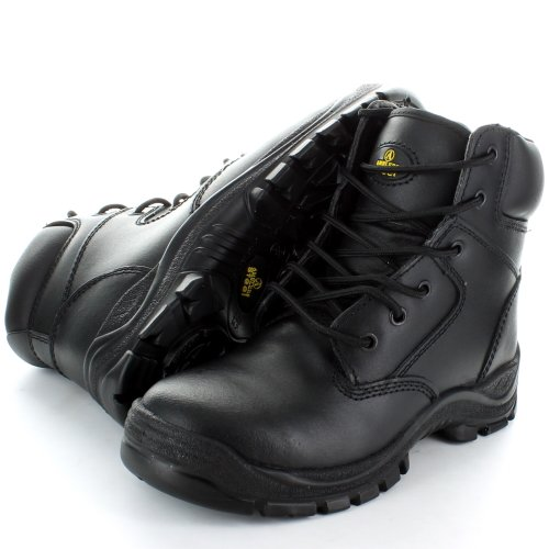 Amblers Steel FS84 Black 6 Eyelet Safety Toe Cap Boot (Eyelet Safety Boot)
