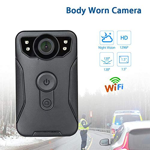 Körper Camara Espia IR Nachtsicht IP56 120 Grad 1296P HD WiFi Mini Kamera Polizei Wireless Video Camcorder,Standardversion64g
