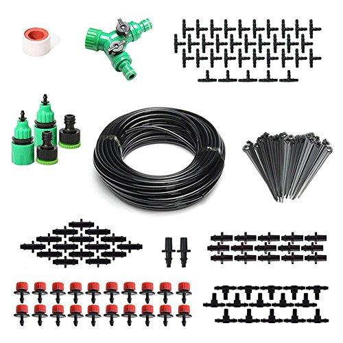 Soulitem 2-en-1 Spray Drop Irrigation 40m Hose Kit de riego por Goteo automático para Plantas Garden Flowerbed