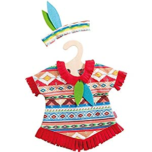 Heless 2640heless Azul Pluma Indio Set para muñeca