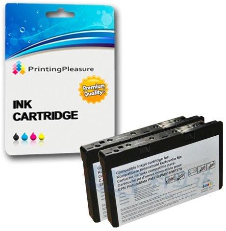 2 Druckerpatronen für Epson PictureMate Pal PM200, Snap PM240, Dash PM260, Flash PM280, Zoom PM290, Charm PM225, Show PM300 | kompatibel zu T5846 C13T58464010 Magenta-snap
