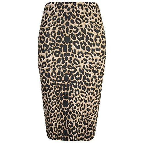Leopardo Damas Rayas Calavera Huesos Estampado Talle Alto con Movimiento Tubo Mujer Ajustada Vestido Ceñido De Tubo A Media Pierna De Cóctel Noche Falda Tallas Grandes