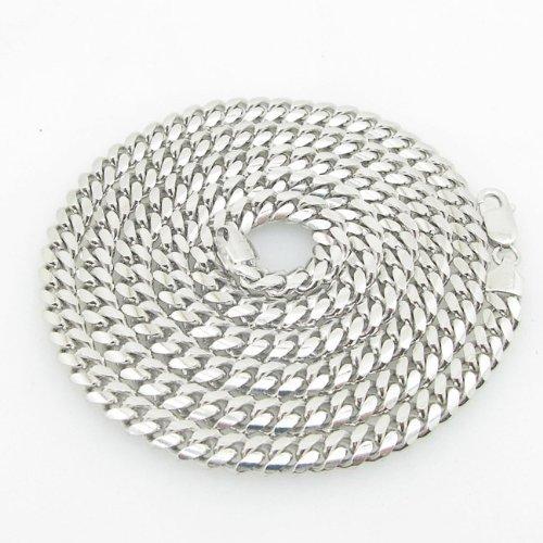 IcedTime-Silver-Necklace italienischem Sterling Silber Cuban Link Kette Länge–76,2cm Breite–6mm