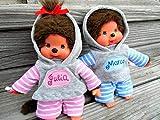 Puppenkleidung handmade für MONCHICHI Gr. 20 cm MONCHHICHI Bekleidung Kapuzenshirt mit NAME bestickt Hoodie + Hose Kleidung Puppenkleidung