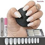 500künstliche Nägel, 10Größen–komplett blickdichte Nägel für Nagel-Salons & DIY-Nailart, inkl. Kleber und kleine Feile