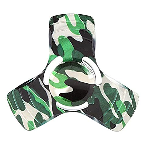 OYOTRIC Camouflage Tri Hand Spinner EDC Focus Stress Relief Toy High Speed Bearing Fidget