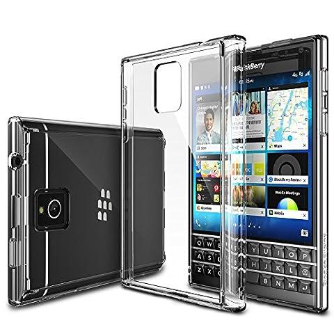 Blackberry Passport Hülle, Ringke FUSION kristallklarer PC TPU Dämpfer (Fall geschützt/ Schock Absorbtions-Technologie) für das Blackberry Passport - Kristallklar