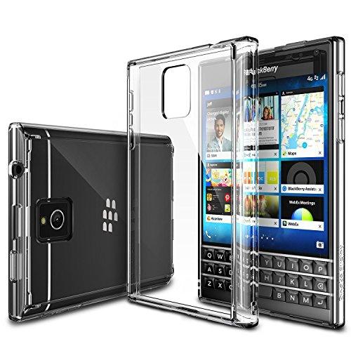 Blackberry Passport Hülle, Ringke FUSION kristallklarer PC TPU Dämpfer (Fall geschützt/ Schock Absorbtions-Technologie) für das Blackberry Passport - Kristallklar (Blackberry Passport-klarer Fall)