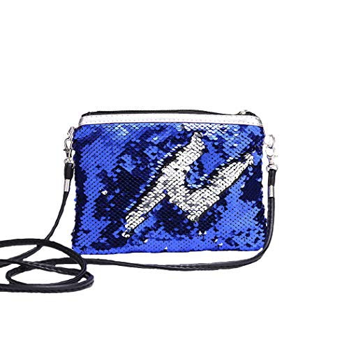 Forlady sacchetto di messaggero per bambini quadrato piccolo portafoglio borsa di paillettes borsa portamonete borsa portamonete portafoglio piccolo coda di pesce