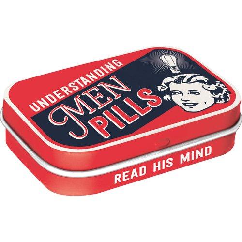 Nostalgic-Art 81353  - Understanding Men Pills | Pillen-Dose | Bonbon-Box | Metall | mit Pfefferminz-Dragees