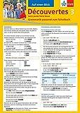 Découvertes Série jaune / Série bleue 3 - Auf einen Blick: Grammatik passend zum Schulbuch - Klappkarte (6 Seiten)