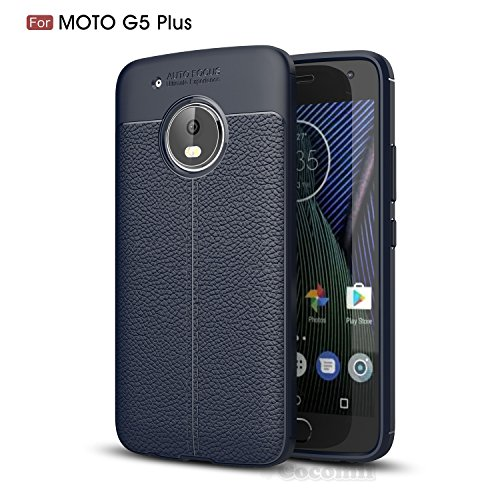 Motorola Moto G5 Plus Hülle, Cocomii Ultimate Armor NEW [Heavy Duty] Premium Leather Pattern Slim Fit Shockproof Hard Bumper Shell [Military Defender] Full Body Dual Layer Rugged Cover Case Schutzhülle XT1684 XT1685 XT1687 (Deep Blue)