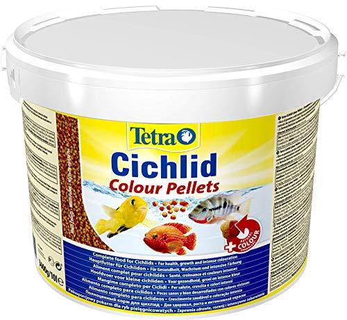 Tetra Cichlid Colour (Hauptfutter für die besonderen Ernährungsbedürfnisse von alles- und fleischfressenden Cichliden), 10 Liter Eimer -