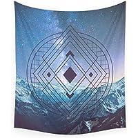 HYDDAXJW Geometría Sagrada Universo Tapiz De Pared Toalla De Playa Manta De Poliéster Yoga Mantilla para