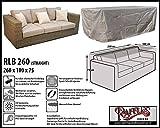 RLB260straight Hülle für Lounge Bank, Rattan Gartensofa oder Lounge Sofa, 2 - 3 Personen, passt am besten am Sofa von max. 260 x 95 cm. Schutzhüllen für Bank, Schutzhülle für Lounge Bänke, Abdeckhaube Schutzhülle Schutz-Plane für gartenbank gartensofa