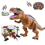WISHTIME Télécommande Dinosaure Electric Jeux Enfants RC Animaux Jouets LED Lumineux Dinosaure Marche et Rugissant Robot Jouets pour Tout-Petits Garçons Filles