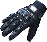 Koly 1 Pair Rock Black Short Sports PU Leather Motorcycle Motorbike Summer Gloves