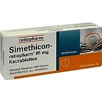 Simethicon-ratiopharm 85 mg Tabletten, 50 St. preisvergleich bei billige-tabletten.eu