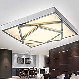 Kreativ LED 3-tier Rechteck unsichtbare rechteckige Lampe, die Zimmer der Beleuchtung, einfache und moderne Lounge Deckenleuchten Lampe Laterne Lampen (Farbe: Fernbedienung 60 bis 72 F-90*)