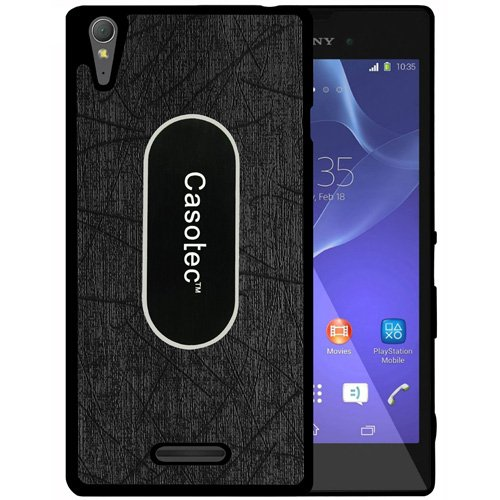 Casotec Metal Back TPU Back Case Cover for Sony Xperia T3 - Black  available at amazon for Rs.175