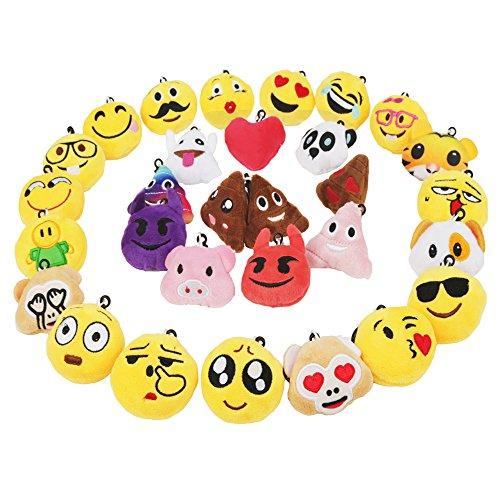 üsselanhänger Plüsch Tasche Anhänger 5cm Kindergeburtstag Spielzeug Plüsch Kissen Geschenke für Kinder, Party Geburtstag Anhänger Dekorationen Zubehör für Taschen und Rucksäcke (Niedliche Halloween Gesichter)