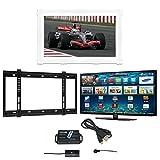 White Color 40' Surrey TV Mirror Frame, 40' Samsung UE40MU6400 LED SMART TV, Wall Bracket and Infra Red Extender