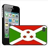 Fancy A Snuggle - Carcasa rígida para Apple iPhone 4 y 4S, diseño de la bandera de Burundi