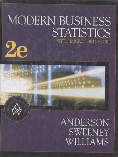 Bundle Modern Business Statistics with Microsoft Excel LooseLeaf Version 6th  CengageNOW with XLSTAT 1 term 6 months Printed Access Card