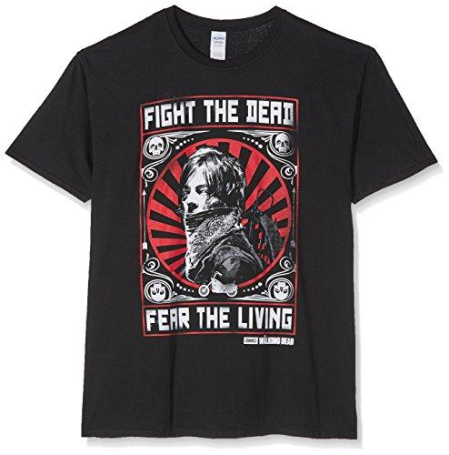 The Walking Dead Men's Daryl Dixon Fight Poster Black T-Shirt