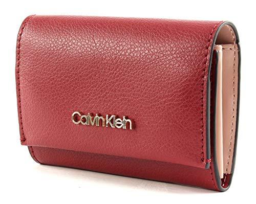 Calvin Klein Damen Enfold Card Holder Wallet Umhängetasche, Rot (Barn Red), 3x8.5x11 cm