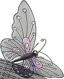 Wunderschöner Schmetterling dekorativer Schmetterling aus Metall Wanddekoration ca 66 cm