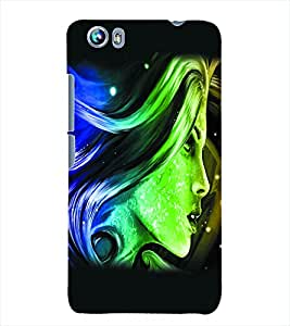 Fuson 3D Printed Fantasy Girl Designer Back Case Cover for Micromax Canvas Fire 4 A107 - D1022