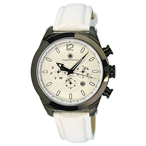 Constantin Durmont Men's Automatic Watch Analogue Display and Leather Strap CD-INT2-AT-LTSTST-WH